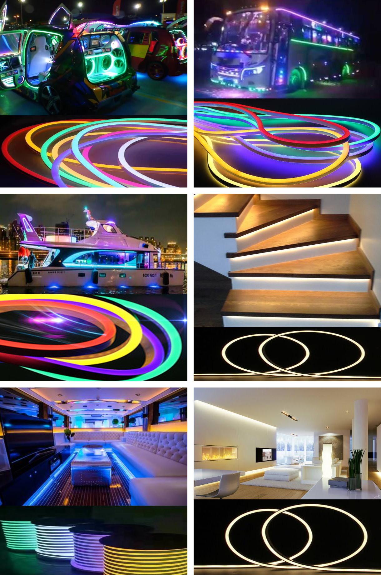 Various Sizes LED Flexible Neon Soft Tube Light for Interior