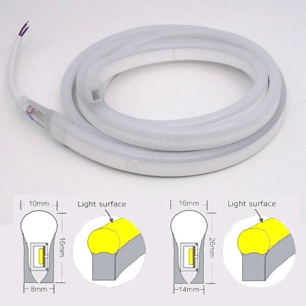 various sizes led flexible neon soft tube light for